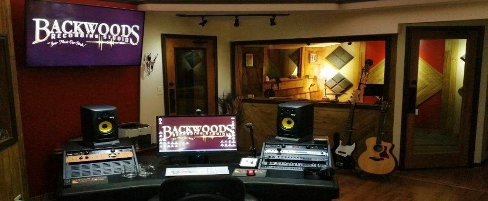 Inside view of Backwoods Recording Studio