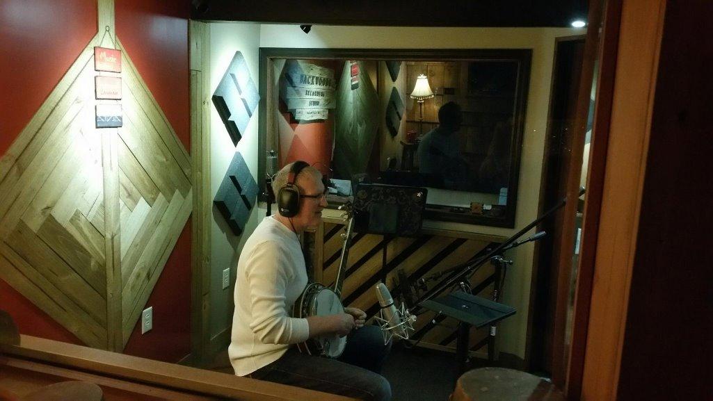 John Swaim recording Banjo